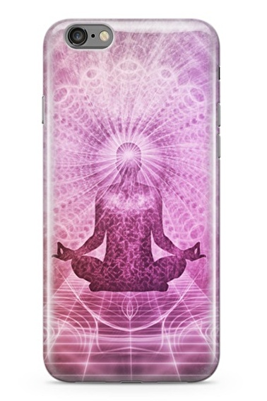 Lopard Apple İphone 6 6S Kılıf Meditasyon Yoga Kapak Renkli